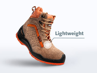 Lightweight materials for safety shoes